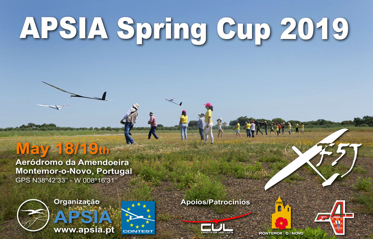 Eurotour F5J Spring Cup APSIA au Portugal Cartaz_spring_cup_2019_f5j